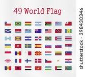 world  flag on a white... | Shutterstock .eps vector #398430346