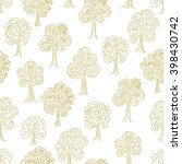 doodle thin line forest... | Shutterstock .eps vector #398430742