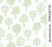 doodle thin line forest... | Shutterstock .eps vector #398430745