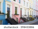 Colorful English Houses Facade...