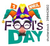 april fools day lettering text... | Shutterstock . vector #398442802