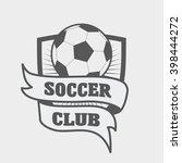 football or soccer logo  label... | Shutterstock .eps vector #398444272