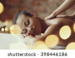 leisure. woman in spa salon | Shutterstock . vector #398446186