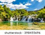 beautiful skradinski buk... | Shutterstock . vector #398455696