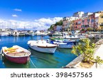 colrful sunny procida island ... | Shutterstock . vector #398457565