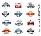 beautiful 12 made in cuba... | Shutterstock .eps vector #398470606