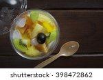 Fruit Salad Topping On Tofu