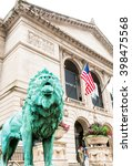 Small photo of CHICAGO, UNITED STATES - AUGUST 23, 2014: The Art Institute of Chicago is an encyclopedic art museum located in Chicago's Grant Park at South Michigan Avenue.