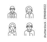 cartoon sketch people | Shutterstock .eps vector #398484022