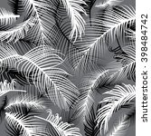 palm leaves seamless pattern | Shutterstock .eps vector #398484742