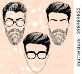 isolated vector  men's... | Shutterstock .eps vector #398484802