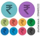 color rupee sign flat icon set...