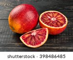 Ripe Sicilian Orange With Half...
