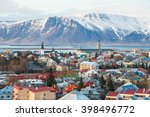 Scenery view of Reykjavik the capital city of Iceland in late winter season. Reykjavik is one of Europe
