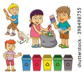 the child waste separation for... | Shutterstock .eps vector #398498755