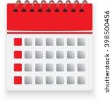 calendar isolated on white...   Shutterstock .eps vector #398500456