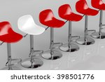 one unique white bar stool in a ... | Shutterstock . vector #398501776