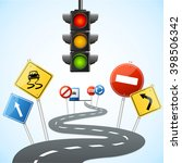 concept of road with traffic... | Shutterstock .eps vector #398506342