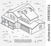 iisometric suburban american... | Shutterstock .eps vector #398508316
