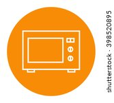 microwave oven linear icon. | Shutterstock . vector #398520895