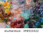 artists oil paints on wooden... | Shutterstock . vector #398523322