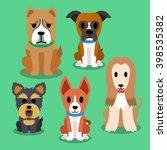 Stock vector cartoon dogs 398535382