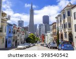 montgomery st. and skyline of... | Shutterstock . vector #398540542