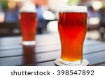 pint glass of craft beer indian ... | Shutterstock . vector #398547892