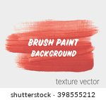 original grunge brush art paint ... | Shutterstock .eps vector #398555212