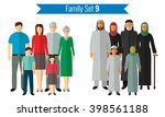 family icons set. traditional... | Shutterstock .eps vector #398561188