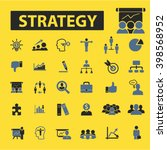 strategy icons  | Shutterstock .eps vector #398568952