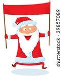 santa with banner | Shutterstock .eps vector #39857089