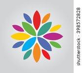 colorful flower vector... | Shutterstock .eps vector #398572828