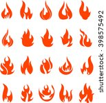 fire icons set | Shutterstock .eps vector #398575492