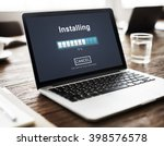 installing bar load waiting... | Shutterstock . vector #398576578