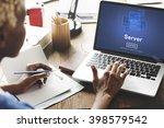 server online technology... | Shutterstock . vector #398579542