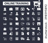 online training icons  | Shutterstock .eps vector #398595892