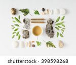 creative natural layout made of ... | Shutterstock . vector #398598268