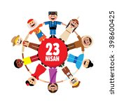 april 23  national sovereignty... | Shutterstock .eps vector #398600425