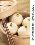 Small photo of Traditional Chinese meal of baozi also known as dim sun