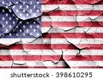grunge america flag with some... | Shutterstock . vector #398610295