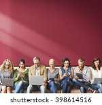 diversity people connection... | Shutterstock . vector #398614516