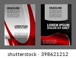 flyer and magazine cover... | Shutterstock .eps vector #398621212