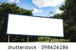 empty billboard in front of...   Shutterstock . vector #398626186