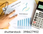 financial accounting sales...   Shutterstock . vector #398627902