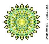 round mandala. arabic  indian ... | Shutterstock .eps vector #398628556