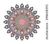 round mandala. arabic  indian ... | Shutterstock .eps vector #398628592