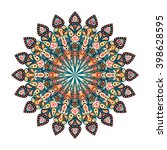 round mandala. arabic  indian ...   Shutterstock .eps vector #398628595