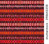 tribal ethnic seamless pattern  ... | Shutterstock .eps vector #398643358