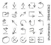 hand drawn arrows   Shutterstock .eps vector #398648362